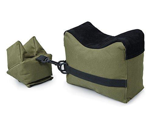 (VIVOI Unfilled Shooting Rest Bag Front & Rear Bag Rifle Gun Sandbag for Outdoor Shooting (Green + Black))