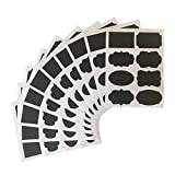 80 Chalkboard Stickers - Canisters Labels - Chalk Makers Erasable