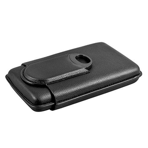 Volenx Cigar Case,3-Finger Cigar Travel Case with Cigar Cutter by CigarHub
