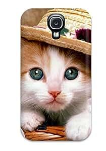 New Tpu Hard Case Premium Galaxy S4 Skin Case Cover(artistic Cat Fancy )