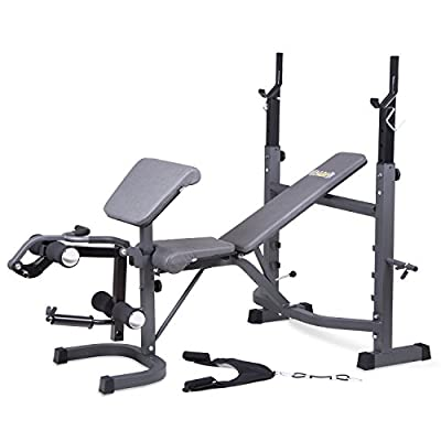 Body Champ BCB5860 Olympic Weight Bench with Preacher Curl, Leg Developer and Ab Crunch Handle / Home Gym Fitness by Hupa International, Inc.