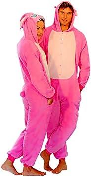 Adulto Unisex Stitch Blu Stitch Rosa onesie KIGURUMI VESTITO carnevale COSTUME stravagante felpa con cappuccio Pigiama regalo di Natale Stitch Blu, S height 150cm-160cm