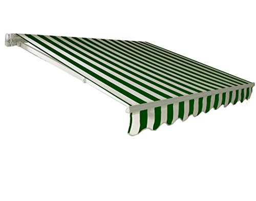 Awntech 8-Feet California Model Manual Retractable Awning, 8 by 7-Feet, Forest Green/White