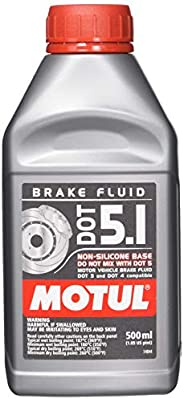 Motul 100950 100% Ponto de freio sintético 5.1 Fluido de freio 1/2 litro ou 500 mlMotul 0.5 l, 1 Pack FBA_3364