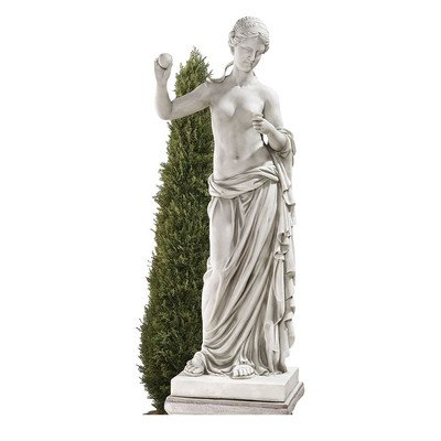 Design Toscano Venus of Arles Greek Goddess Statue, Grand, 38 Inch, Polyresin, Antique Stone]()