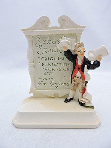 Sebastian Miniatures Plaque USA Town Crier