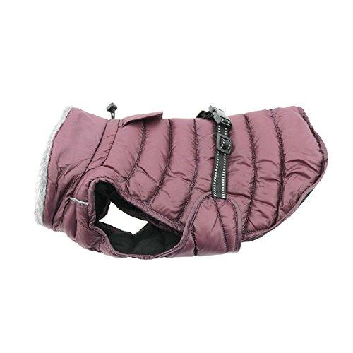 Cheap DOGGIE DESIGN Alpine Extreme Weather Puffer Dog Coat Waterproof (5XL, Burgundy)