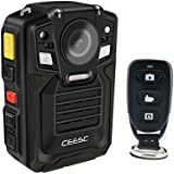 CEESC Police Security Body Worn Camera WV8 Portable Compact IR Night Vision With Remote Controller and Rechargeable Battery (32GB)