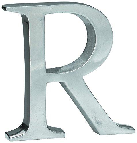 KINDWER Aluminum Letter, 6-Inch, Monogrammed Letter (Silver Letters)