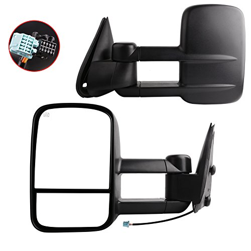 YITAMOTOR Towing Mirrors for 2003-2007 Chevy Silverado GMC Sierra Pickup Truck Pair Tow Power + Heated Side Mirrors