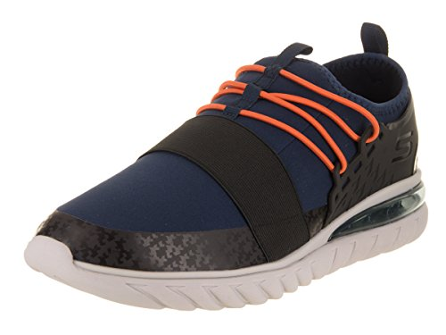 Skechers Herren Skech - Air Conflux Freizeitschuh Navy / Orange