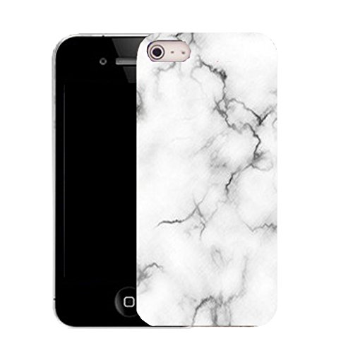 Mobile Case Mate IPhone 4s clip on Silicone Coque couverture case cover Pare-chocs + STYLET - marble effect pattern (SILICON)