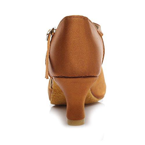 de Mujer 5cm Latinos Zapatos 259 HIPPOSEUS de Modelo Marrón estándar Baile ZY4XRq