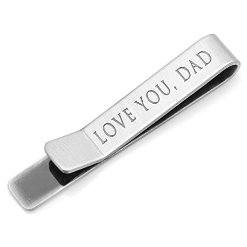 ''Love You, Dad'' Hidden Message Tie Bar by Ox and Bull Trading Co