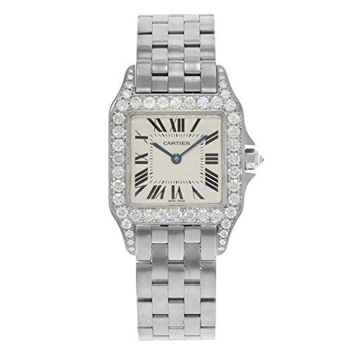 Cartier Santos Demoiselle 27mm 18K Gold Factory Diamonds Quartz Ladies Watch WF9004Y8 (Certified Pre-Owned)