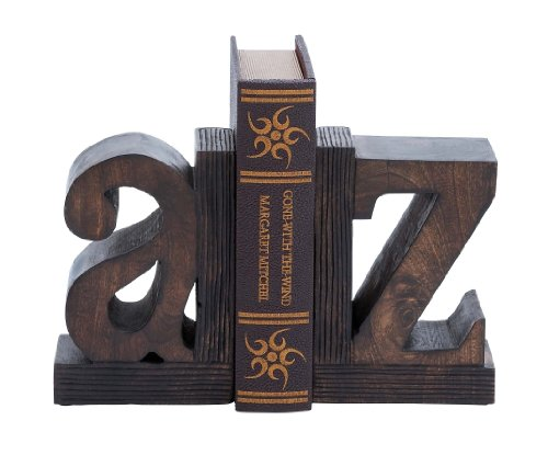Deco 79 Wood Poly-Stone Bookend, 9 by 6-Inch