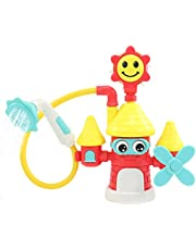 Baby Bath Toy with Shower Head Water Sprinkler Castler Shower Toy Bathtub Toy for 1 2 3 4 5 6 Year Old Boys Girls 6-18 Months Toddlers