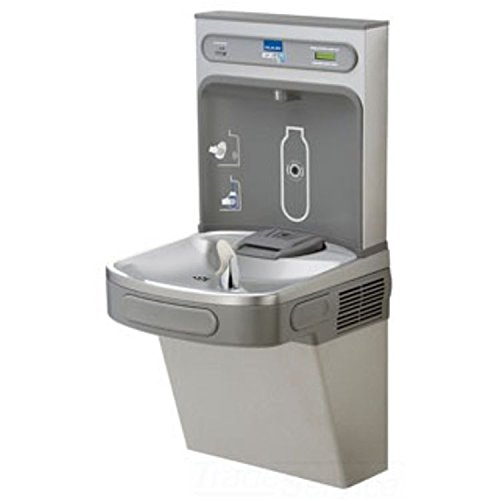 Wall Mount Drinking Fountain with Bottle Filling Station