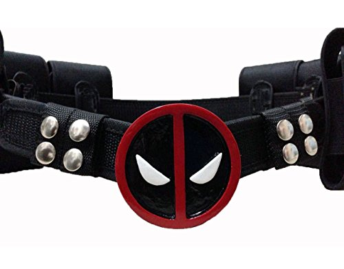(Rulercosplay Deadpool Game Cosplay Mask, Belts and Sword Belt (Waist)