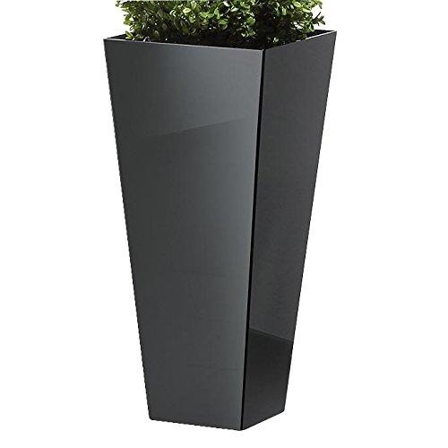 Linnea Übertopf / Pflanzensäule - 75 cm - schwarz - Siqnatop