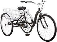 """Schwinn Meridian Wheel Trike Bicycle, Black, 14""""/One"""