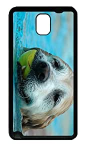 covers custom Dog Swimming TPU Black case/cover for samsung galaxy note 3 N9000