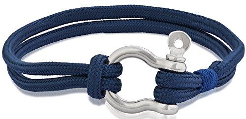 Alloy Boat Anchor Leather Bracelet - 7