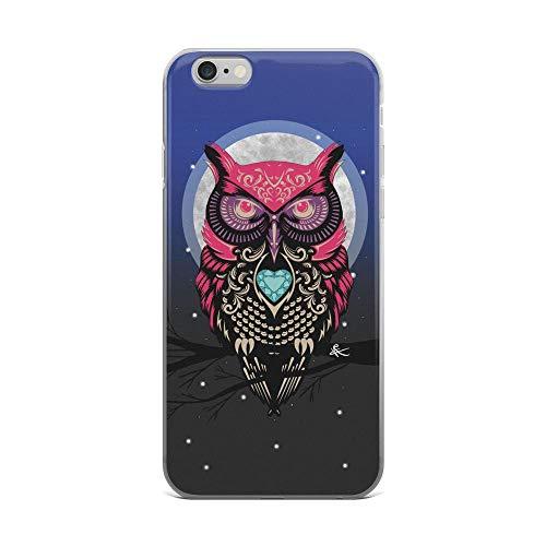 iPhone 6 Plus/6s Plus Pure Clear Case Cases Cover Owl Vintage Folk Art
