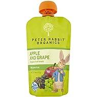 Peter Rabbit Organics, Apple & Grape puree, 4 Ounce Pouches (Pack of 10)