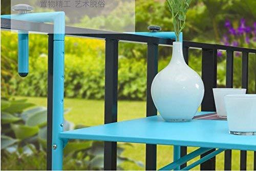 SED Multifunción Pequeña Mesa Hogar Balcón y sillas Plegable Cubierta Balcón Exterior Barandas de Pared Colgando...