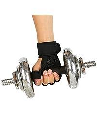 1 par de guantes de levantamiento de peso ventilados para hombres y mujeres con muñequeras integradas, protección completa de la palma y agarre extra. Ideal para dominadas, entrenamiento cruzado, fitness, muñecas y levantamiento de pesas.