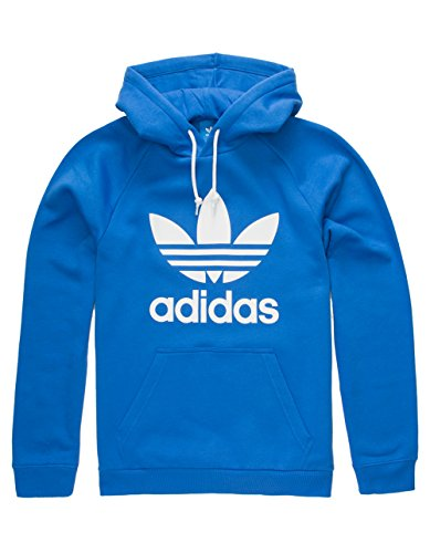 adidas Originals Men's Outerwear | Trefoil Hoodie, Blue, Medium by adidas Originals