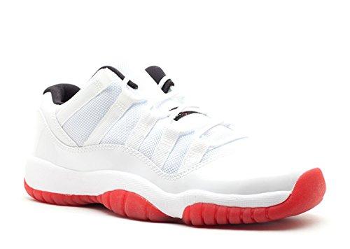 Nike Jungen Air Jordan 11 Retro Low BG Basketballschuhe white, varsity red-black