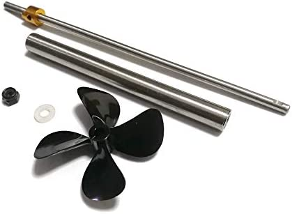 HAWK HOBBY Rc Boat 200mm Drive Shaft with 130mm Sleeve and 3 Vanes 70mm Diameter CCW Propeller