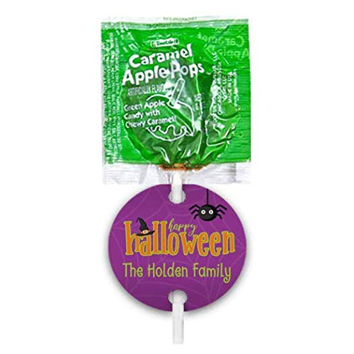 Halloween Candy Personalized Caramel Apple Lollipops Party Favors (48 Pops) for $<!--$19.99-->