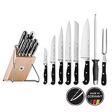 WMF Spitzenklasse Plus - Soporte de Cuchillos De 9 Piezas