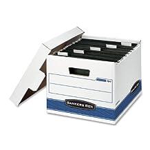 Bankers Box Hang'N'Stor Medium-Duty Storage Boxes, Letter,  4 Pack (00784)