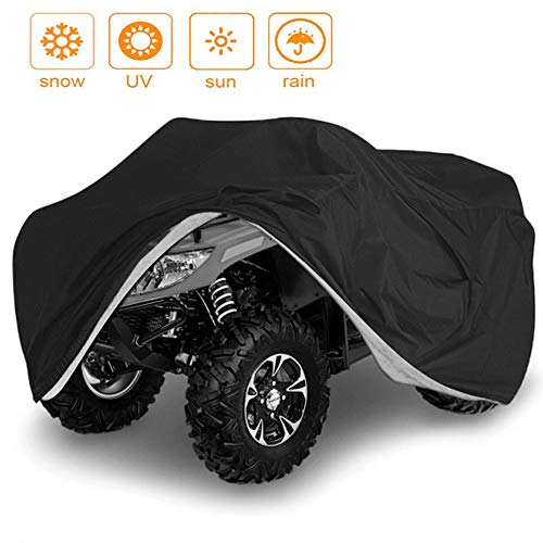 VVHOOY Waterproof Heavy Duty ATV Cover 210D All Weather 4 Wheeler Quad Covers Protect ATV From Sun Rain Dust Snow ()