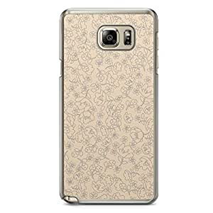 Floral Samsung Note 5 Transparent Edge Case - Beige Linear