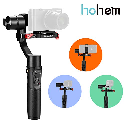 Hohem iSteady-Multi Gimbal for Compact Camera 3-Axis Handheld Gimble Stabilizer for Sony RX100M7/6/5/4/3 RX0 II Gopro & Osmo Action Camera and Smartphone 3 in 1 Gimbal Stabilizer