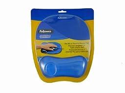 Fellowes Gel Crystal Mousepad/Wrist Rest, Blue (91141)