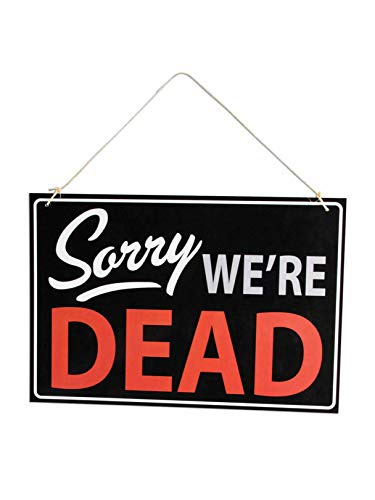 Forum Novelties 78958 Halloween Sorry We're Dead Retail Store Sign, 13