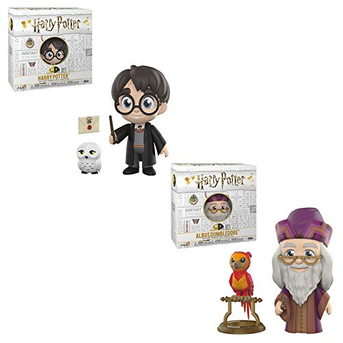 HARRY POTTER Funko 5 Star Hedwig Owl Albus Dumbledore Fawkes Phoenix Toy Action Figures - 2 Pack ()