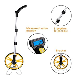 Measuring Wheel Digital Display With Free Carrying Pack Yellow/Black