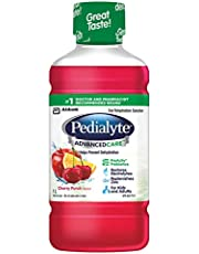 Pedialyte® AdvancedCareTM, Electrolyte Drink, Oral Rehydration Solution, Cherry Punch, 1-L Bottle
