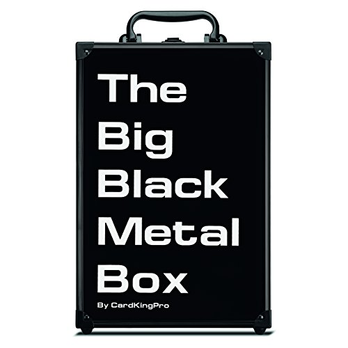 The Big Black Metal Box (PRO Edition) | Case Is Suitable For Cards Against Humanity, Magic The Gathering Etc (Game Not Included) | Includes 8 Dividers | Fits up to 2000 Loose Unsleeved Cards