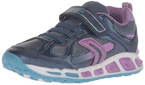 Geox J Shuttle Girl D, Zapatillas Para Niñas Blau (NAVY/LILACC4215)