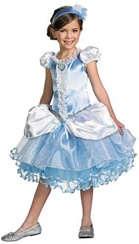 Prestige Tutu Cinderella Costumes (Disguise Girl's Disney Cinderella Tutu Prestige Costume, 3T-4T)