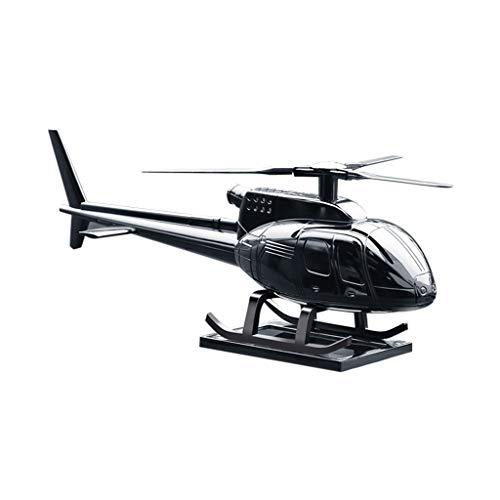NszzJixo9 DIY Car Fragrance Essential Oil Solar Rotation Helicopter Shape Decoration for Car Ornament Perfume Fragrance Mirror Charm Ornament (Black)