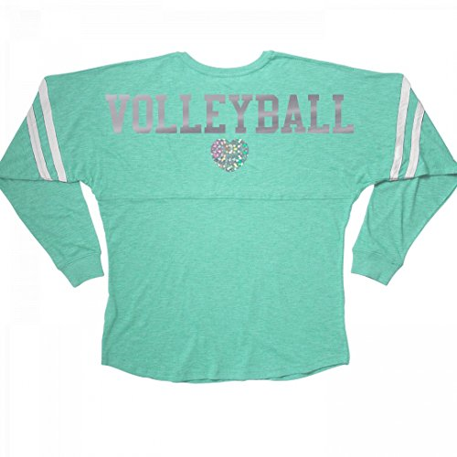 Customized Girl Silver Metallic Volleyball Love: Ladies Slub V-Neck Game Day (Metallic V-neck Jersey)